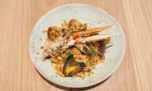 Look out for the langoustine: seafood linguine.