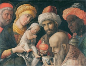 The Adoration of the Magi, c. 1500 by Andrea Mantegna.