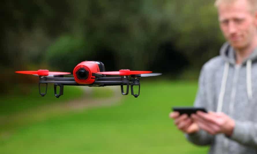 A drone being flown