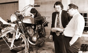 John Haynes, in dark jacket, had a simple formula for producing his manuals, which started with dismantling and rebuilding the vehicle