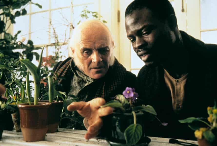 With Djimon Hounsou in Amistad.