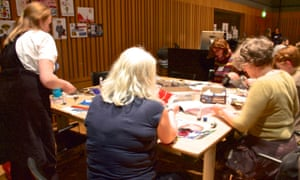 Collage like an artist with Katy Stoddard and Mena Sultan at the Guardian Education Centre Cartoon and art family day 17 November 2018