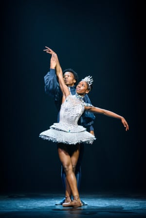 'The staccato dancer par excellence': Cira Robinson, front, partnered by Mthuthuzeli November in Arthur Pita's Cristaux.