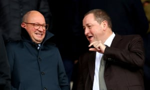 Mike Ashley was at St Mary's and again drew the ire of visiting fans.