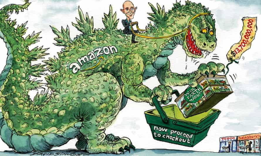 Jeff Bezos's retail behemoth is a monster challenge for traditional supermarkets.