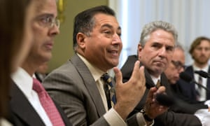 Carlos Rivera Vélez, with the Puerto Rico Manufacturers Association, center, testifies on Capitol Hill this month at a hearing on the financial situation of Puerto Rico's Electric Power Authority.