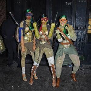 2014 Rihanna as a Teenage Mutant Ninja Turtle
