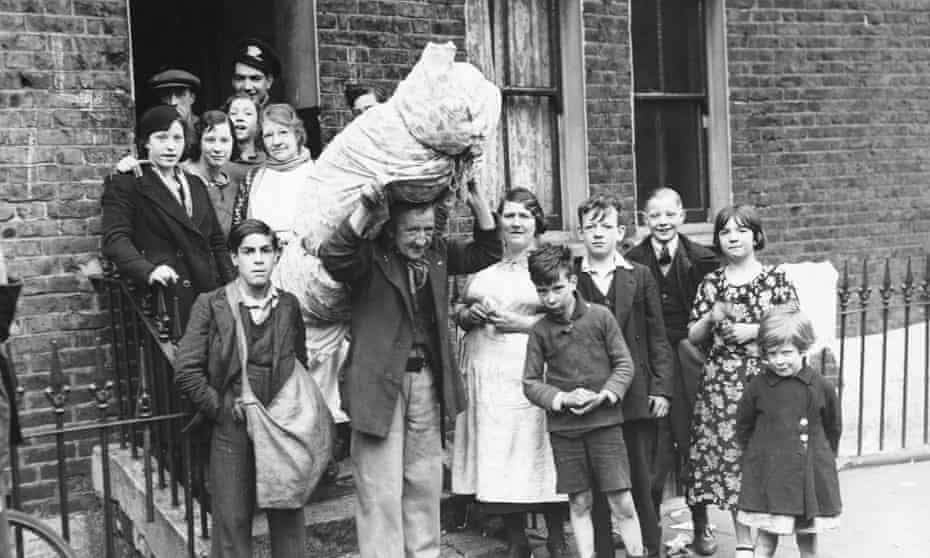 A family is evicted in 1937.