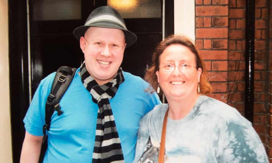 'I always go to the stage door after' … Sally Frith with cast member Matt Lucas in 2011.