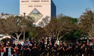 Marjory Stoneman Douglas High School staff, teachers and students return to school Wednesday.