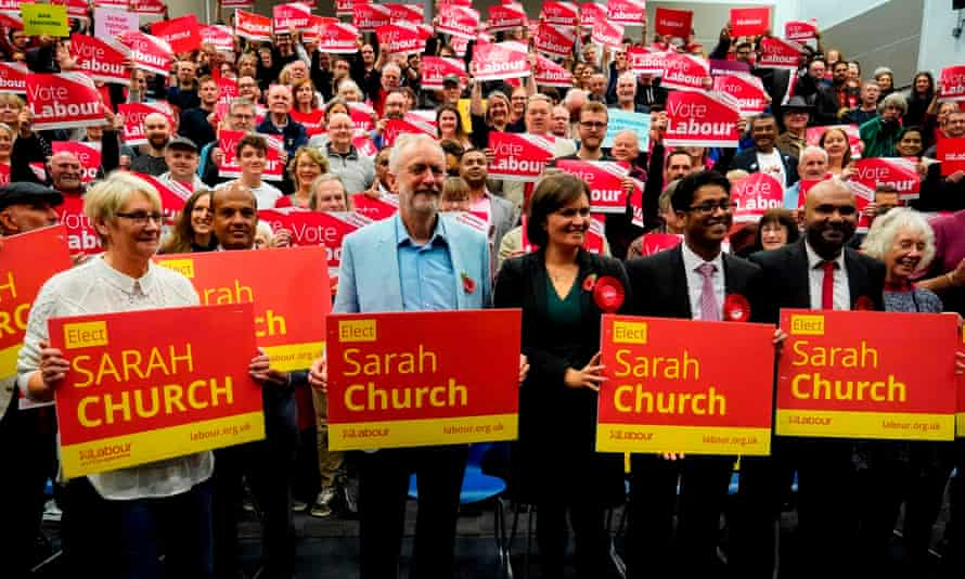 Jeremy Corbyn campaigning in South Swindon, in November 2019: 'Sarah Church was clear in the wake of her defeat that forcing the Lib Dems to stand aside isn't the answer.'