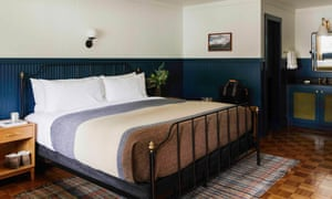 Bedroom at The Anvil, Jackson, Wyoming