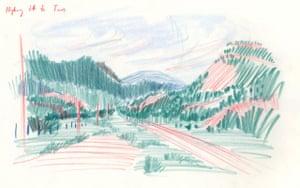 17 Driving to Taos