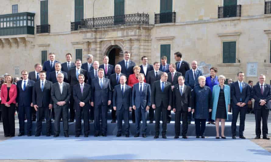 EU leaders gathered together in Malta.