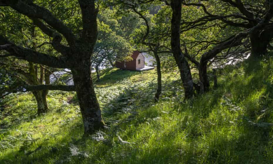 Uisge bothy on Inverlonan estate, west Scotland