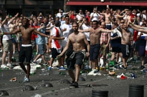 England fans clash with police in Marseille