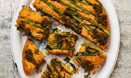 Meera Sodha's vegan recipe for chilli cornbread with broccoli