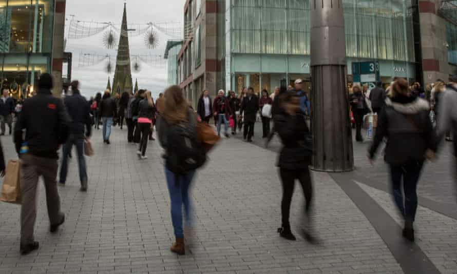Shoppers in Birmingham, England