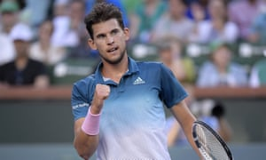 Dominic Thiem exploited a series of errors from Roger Federer