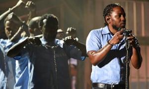 Kendrick Lamar performs onstage