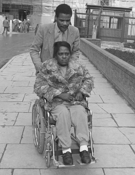 Cherry Groce with her brother Mervin in 1897, going to the Old Bailey trial of the police officer who shot her
