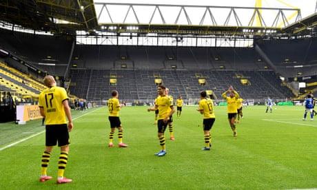 Haaland leads the way as Dortmund win by a distance on Bundesliga return