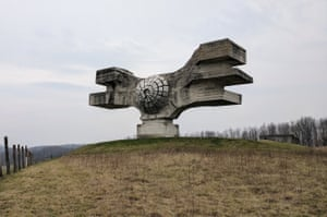 Monument to the Revolution of the People of Moslavina in Croatia.