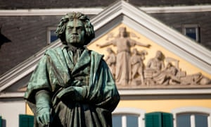 Claimed by Europe ... the Beethoven monument in Bonn, Germany.