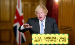 Prime Minister Boris Johnson during a media briefing in Downing Street, London