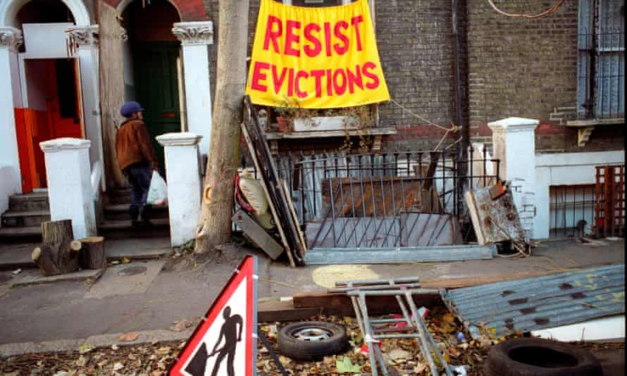 Protesting imminent eviction at Saint Agnes Place squat in Kennington South London.<br>AY9656 Protesting imminent eviction at Saint Agnes Place squat in Kennington South London.