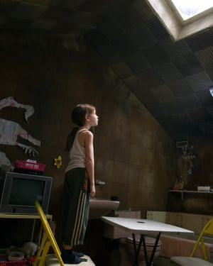 Jacob Tremblay in the 2015 film of Room, directed by Lenny Abrahamson.