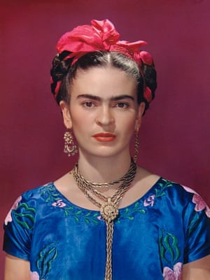 Frida with Blue Satin Blouse, New York 1939