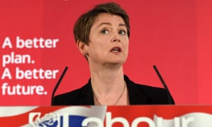 Shadow Home Secretary, Labour's, Yvette Cooper speaks during the Labour party's Crime and Justice manifesto launch