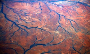A general view of dried-up rivers in the Pilbara region of Western Australia