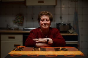Grandmother Juana (80) sits at her kitchen table on 21 December 2013, in Villacanas,, Spain.