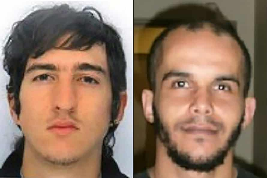 Clement B and Mahiedine M, the two men arrested in Marseille.