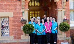Staff at Bridgedale House dementia care home in Fulwood, Sheffield.