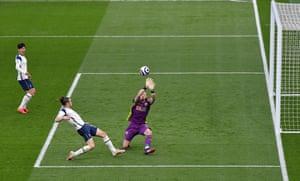 Bale lobs the keeper.