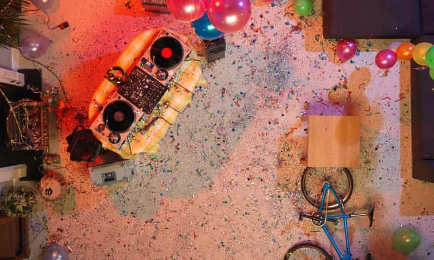 Empty House Party Scene