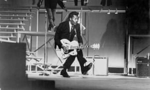 Axe-wielder ... Chuck Berry performs in 1964.