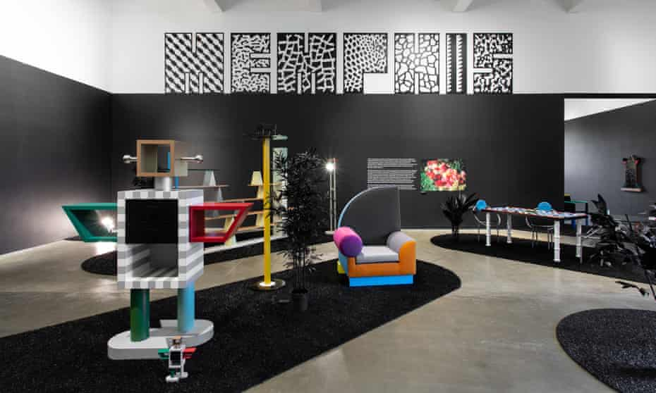 Memphis furniture on show at MK Gallery.