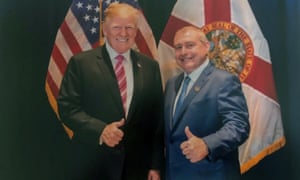 An undated image released by the House judiciary committee shows Lev Parnas with Donald Trump in Florida.