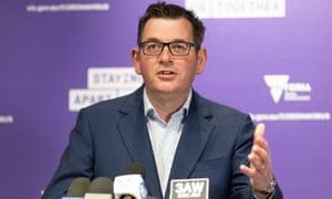 Victorian premier Daniel Andrews speaks to the media at Thursday's daily coronavirus briefing