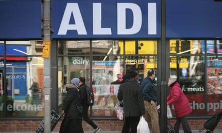 Aldi supermarket in Tooting, south London.
