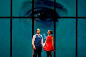 Chris Ryan and Emily Milledge in Lazarus.