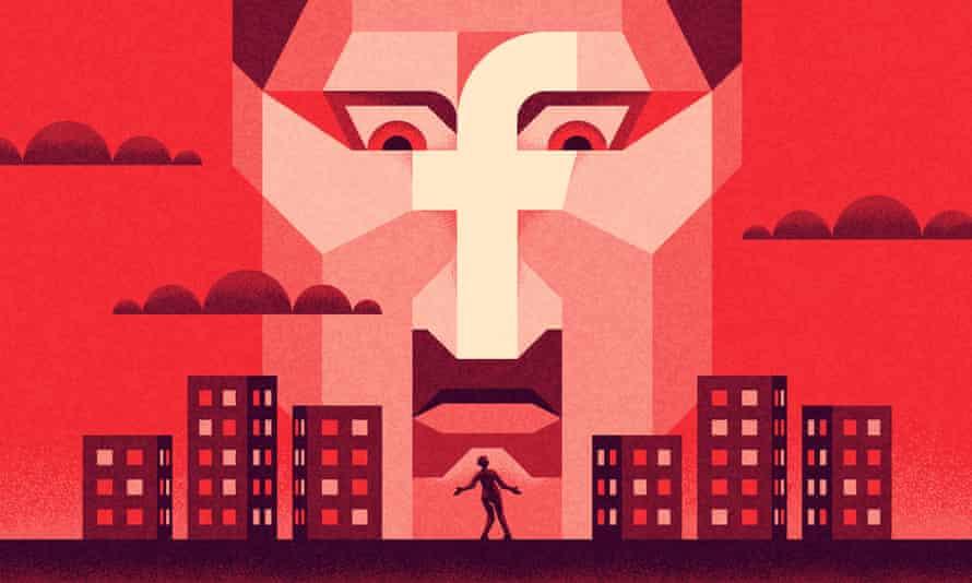 Illustration of Facebook surveillance by Matt Kenyon