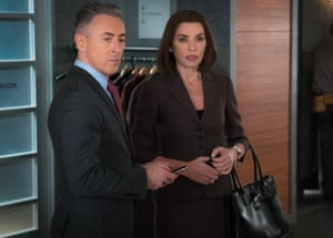 Alan Cumming as Eli Gold in The Good Wife, opposite his friend Julianna Margulies