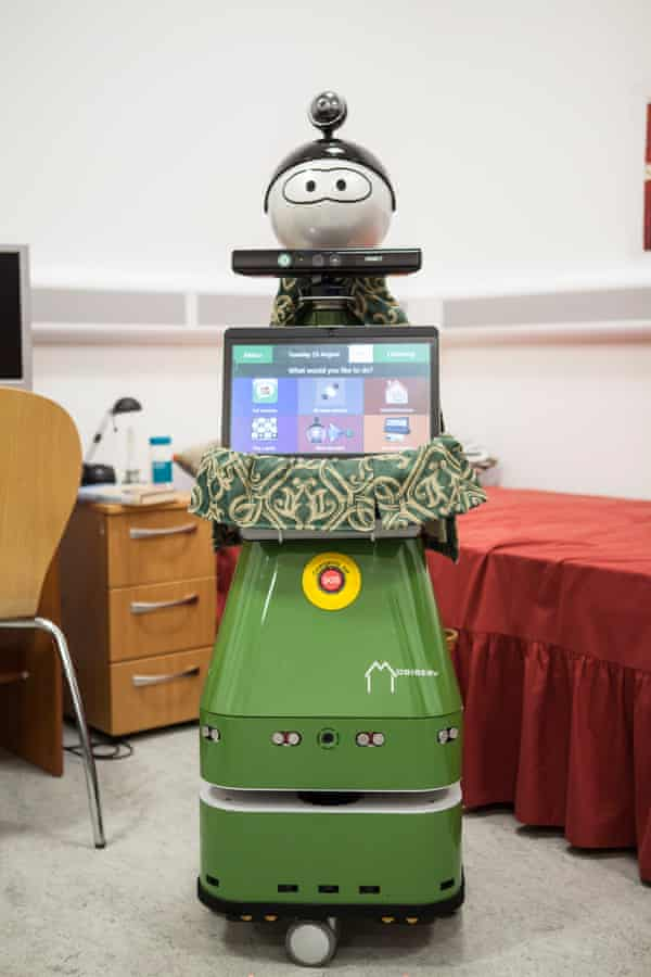Happy to help: Molly the Robot at Bristol Robotic Laboratory. Molly is designed to help elderly or vulnerable people who live alone