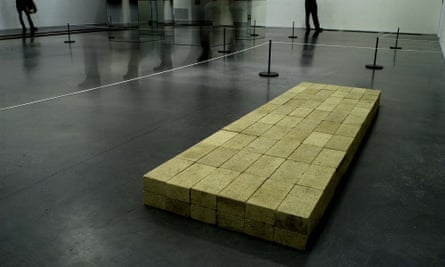'No-one should be made to look at it in a gallery' … Carl Andre's Equivalent VIII, at Tate Modern.