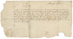 A document written by a court scribe on Queen Elizabeth I's first day of royal business, 20 November 1558 - with her signature.